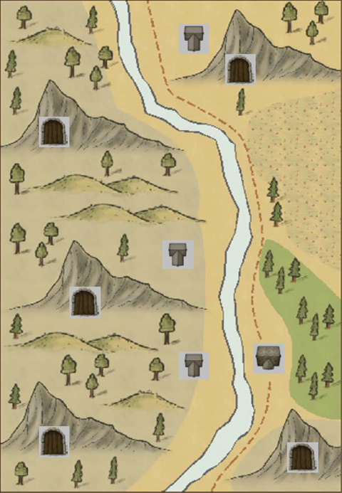 Forbidding Dungeons Area Map